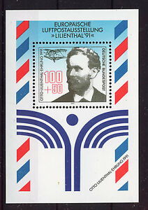 ALEMANIA-RFA-WEST-GERMANY-1991-MNH-SC-B713-Lilienthal-s-first-glider-flight