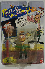 REN & STIMPY : ARMY REN HOEK CARDED ACTION FIGURE MADE BY MATTEL IN 1993. (MLFP)