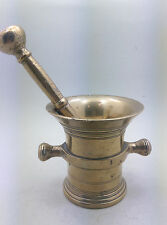 APOTHEKE MÖRSER MESSING NL C. 1700 PISTILL ANTIQUE DUTCH APOTHECARY MORTAR 03