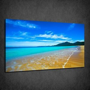 PARADISE-BEACH-BLUE-SKY-SEASCAPE-BOX-CANVAS-PRINT-WALL-ART-PICTURE