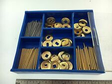 200 Piece Brass and Steel Tapered Pins set plus Washers for Clocks Repair