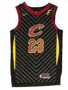 huge discount 0bae2 4b6fe Men's LeBron James #23 Cleveland Cavaliers Black Statement ...