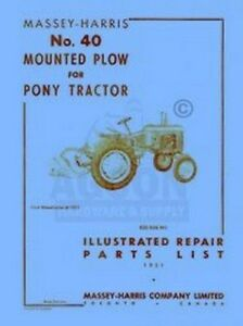 MASSEY-HARRIS-Pony-40-Mounted-Plow-Parts-List-Manual
