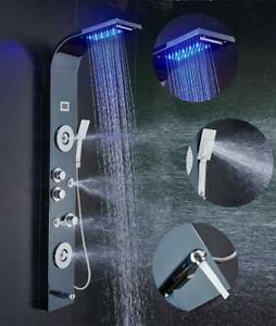 ELLO-amp-ALLO-Stainless-Steel-LED-Shower-Panel-Tower-Rain-Massage-Body-Jets-System