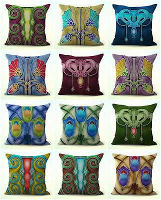 US SELLER-10pcs cushion covers art nouveau Alphonse Mucha discount pillows