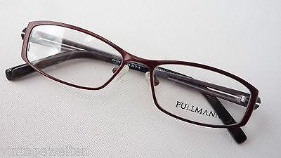 Brillen Frauengestell Titanbrille Dunkelrot Schmal Leicht Nickelfrei Grösse M Reine WeißE