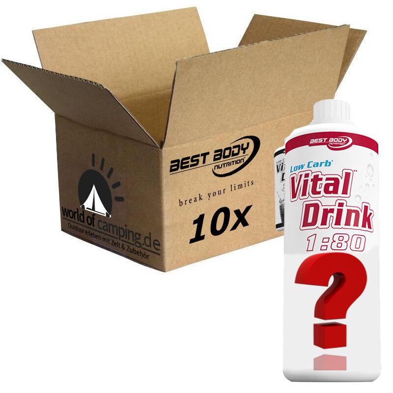 10 Flaschen Flaschen 10 Best Body Nutrition kalorienarm Vital & Fitness Mineraldrink Auswahl 416800