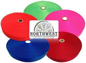 """Heavy Nylon Webbing Strapping by the Yard or lot - 1.5"""" & 2"""" Widths - 8 Colors"""