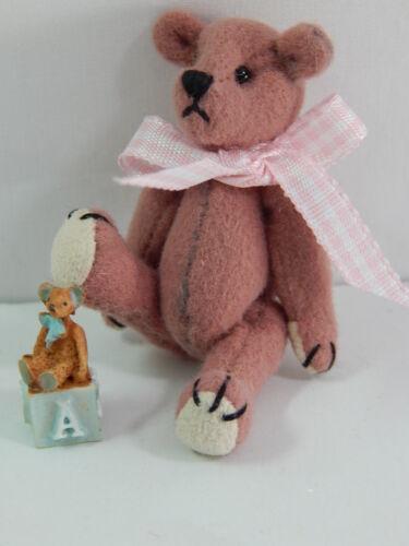 "World of Miniature Bears 2.5/"" Cashmere Bear Bear/'s Toy #5325A"