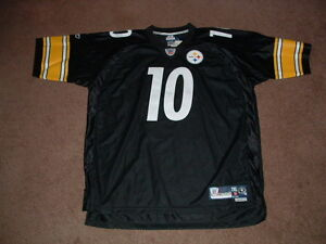 official photos ed576 88912 Details about SANTONIO HOLMES #10 PITTSBURGH STEELERS PREMIER HOME FOOTBALL  JERSEY 2XLARGE NEW