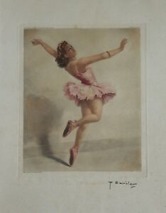 Belle Fernand Jean Barbier (xx) Ballerine Aquatinte Dancer Ballerina танцор Degas Cool En éTé Et Chaud En Hiver