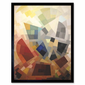 Freundlich-Abstract-Composition-Painting-Art-Print-Framed-12x16