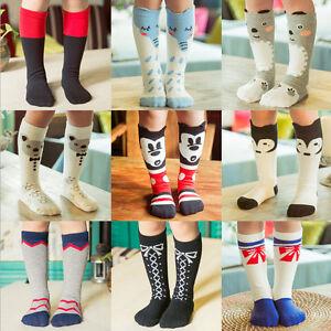 9ab9e5e30 1Pair Girl Boy Kids Toddlers Dress High Knee School Socks Stockings ...