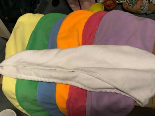 Orange White Hair Towel Wrap Blue Purple Pink. Green Yellow Towel Turban