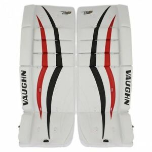 Details about New Vaughn V7 Xf youth goalie leg pads Black/Red 22