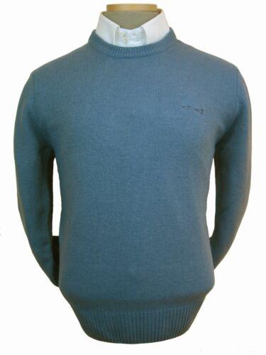 cuello redondo Azul de de mezcla importado lana Italia M Suéter de de para hombre wxBEAaqtZ