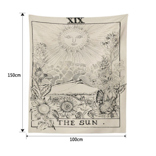 Moon Sun Tarot Tapestry Wall Hanging Bedspread Large Tapestries Cover
