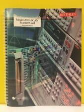 Keithley 2001 Scan 901 01 Rev C Model 2001 Scan Scanner Card Instruction Manual