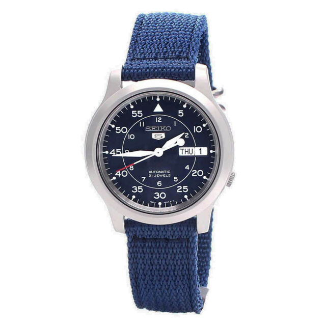 Seiko Analog Casual 5 Automatic Blue Mens SNK807K2