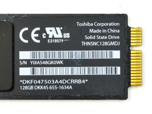 128GB SSD Toshiba Hard Drive For Apple MacBook Air A1370 or A1369