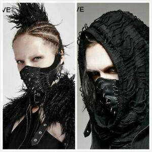 Women Mens Assassin Gothic Cosplay Mask Steampunk Reenactment Leather Mask