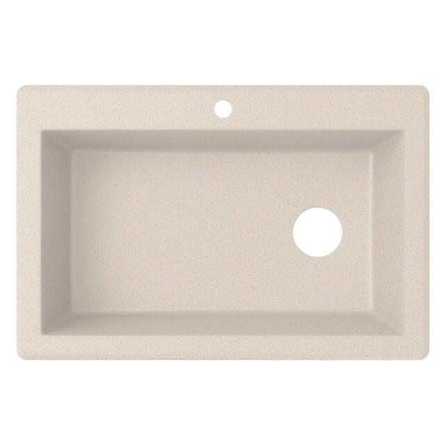 New Swan Single Bowl 33 X 22 Granite Kitchen Sink 1 5 Holes
