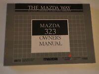 1989 Mazda 323 Nice Used Factory Original Owners Manual Handbook