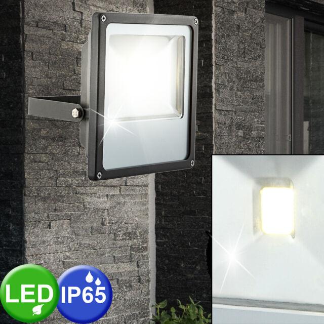 LED Wand Außen Leuchte Aluminium Glas klar Balkon Up /& Down Terrasse Veranda
