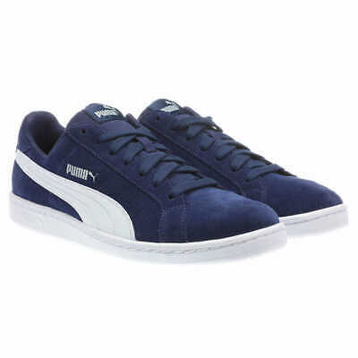 sports shoes a1245 866e5 PUMA Men's Smash Suede Fashion Casual Sneakers Shoe Navy Blue White | eBay
