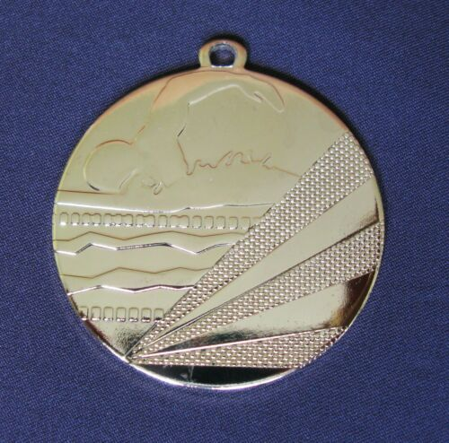 """3x MEDALS 50mm 2/"""" SWIMMING GOLD SILVER BRONZE Award Swimmer Prize"""