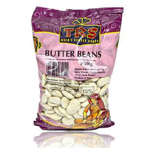 TRS-colore-BIANCO-Burro-Fagioli-LIMA-fagioli-secchi-in-500-G-Confezione-burro-Beans