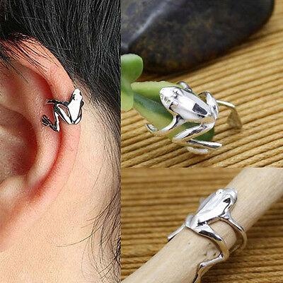 New Chic Fashion 1PCS Punk Gold Silver Tone Frog Cuff Ear Clip Wrap Earring