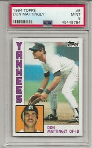 1984-Topps-8-Don-Mattingly-Rookie-PSA-9-MINT-New-York-Yankees-L-K