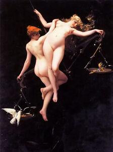 Oil-painting-luis-ricardo-falero-the-balance-of-the-zodiac-nude-girl-Hand-paint