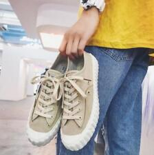 03070850e6b Mens Retro Canvas Flats Casual Loafers White Shoes Lace Up Slip On Oxfords  D632