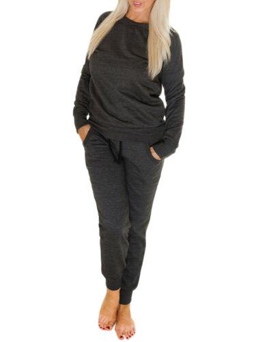 Da Donna Tuta Da Ginnastica Donna Plain Jogging Bottoms Pantaloni Sportivi Pantaloni Camicie di sudore Pantaloni