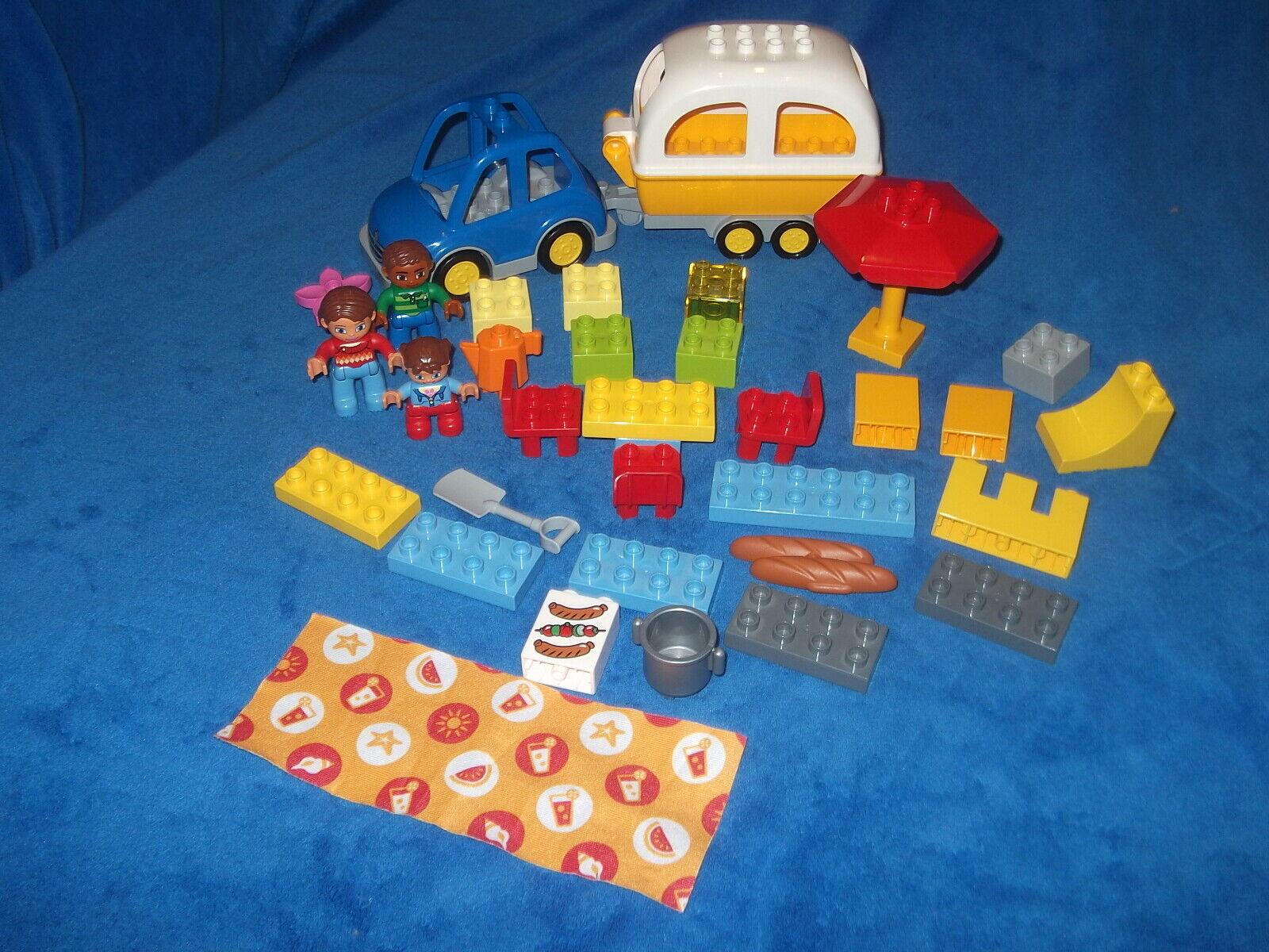 LEGO DUPLO VILLE  ROULOTTE CAMPEGGIO autoRELLO + AUTO CAMPEGGIO-avventura da 10602  risparmia fino al 50%
