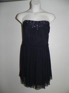 Details about Davids Bridal Dress Plus Size 24 Strapless Black Chiffon  Bridesmaid Prom NWT