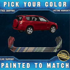 NEW Painted To Match - Rear Bumper Cover For 2009-2012 Toyota RAV4 w/o Flare