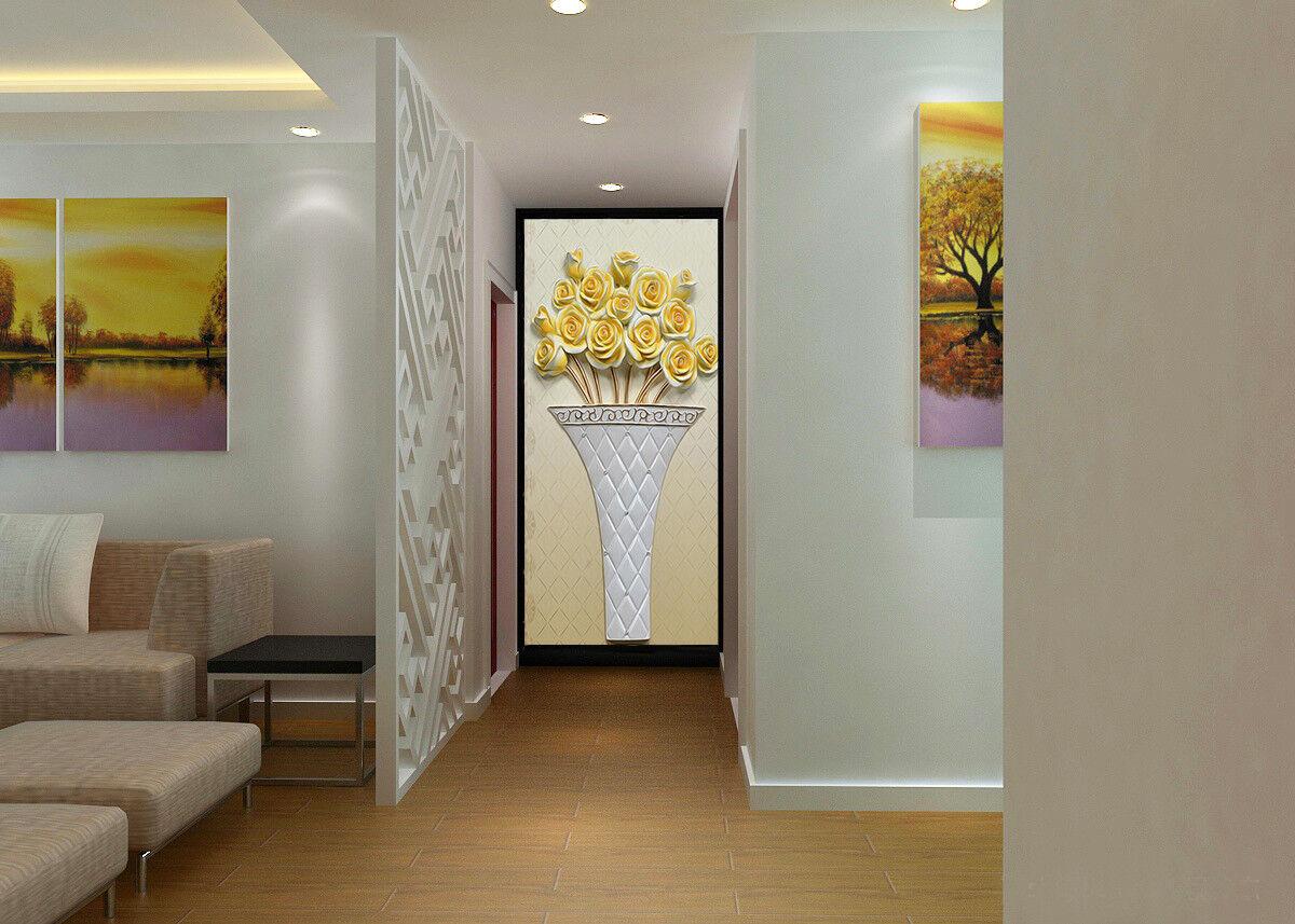 3D Golden Flower 766 Wallpaper Mural Wall Print Wall Wallpaper Murals US Carly