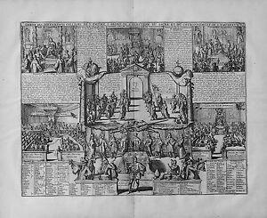 Antique-map-Carte-de-l-039-election-du-sacre-et-du-couronnement-de-l-039-empereur