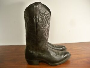 25d08ef41c0 Details about Ariat #34770 Men's Deertan Leather Heritage Western R Toe  Cowboy Boots Size 8.5