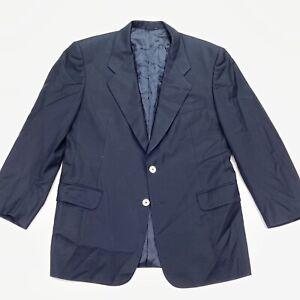 Belvest-Men-s-100-Wool-2-Button-Blazer-Jacket-Gold-Buttons-Blue-Italy-40-S