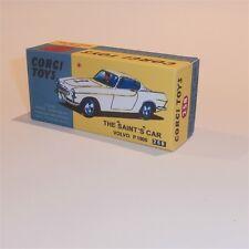 Corgi Toys  258 The Saint Volvo P1800 empty Reproduction  Box
