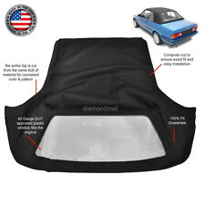 BMW 3-Series E30 Convertible Soft Top 1986-1993 Black Twill & Plastic Window