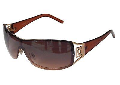 Sonnenbrille Damenbrille Schwarz Silber Strasssteinen Trendy Brille Monoglas 33