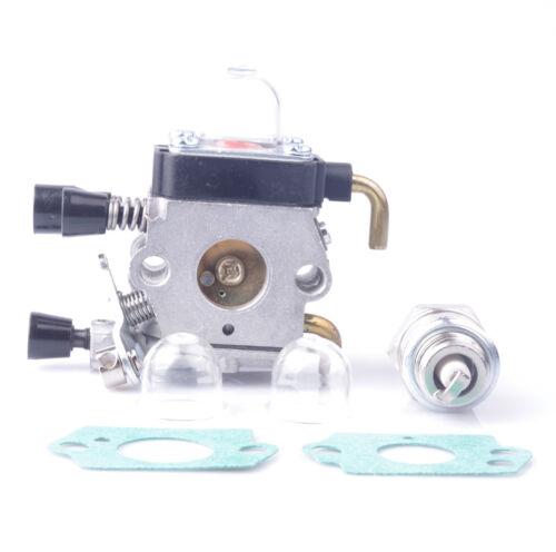 New Carburetor for STIHL FS55 FS55R FS55RC KM55 HL45 KM55R FS38 w// Fuel Line