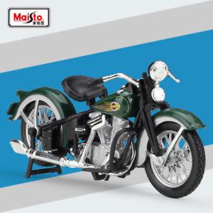 New-Maisto-1-18-Harley-Davids-1936-EL-Kuncklehead-Motorcycle-Diecast-Model-Toys