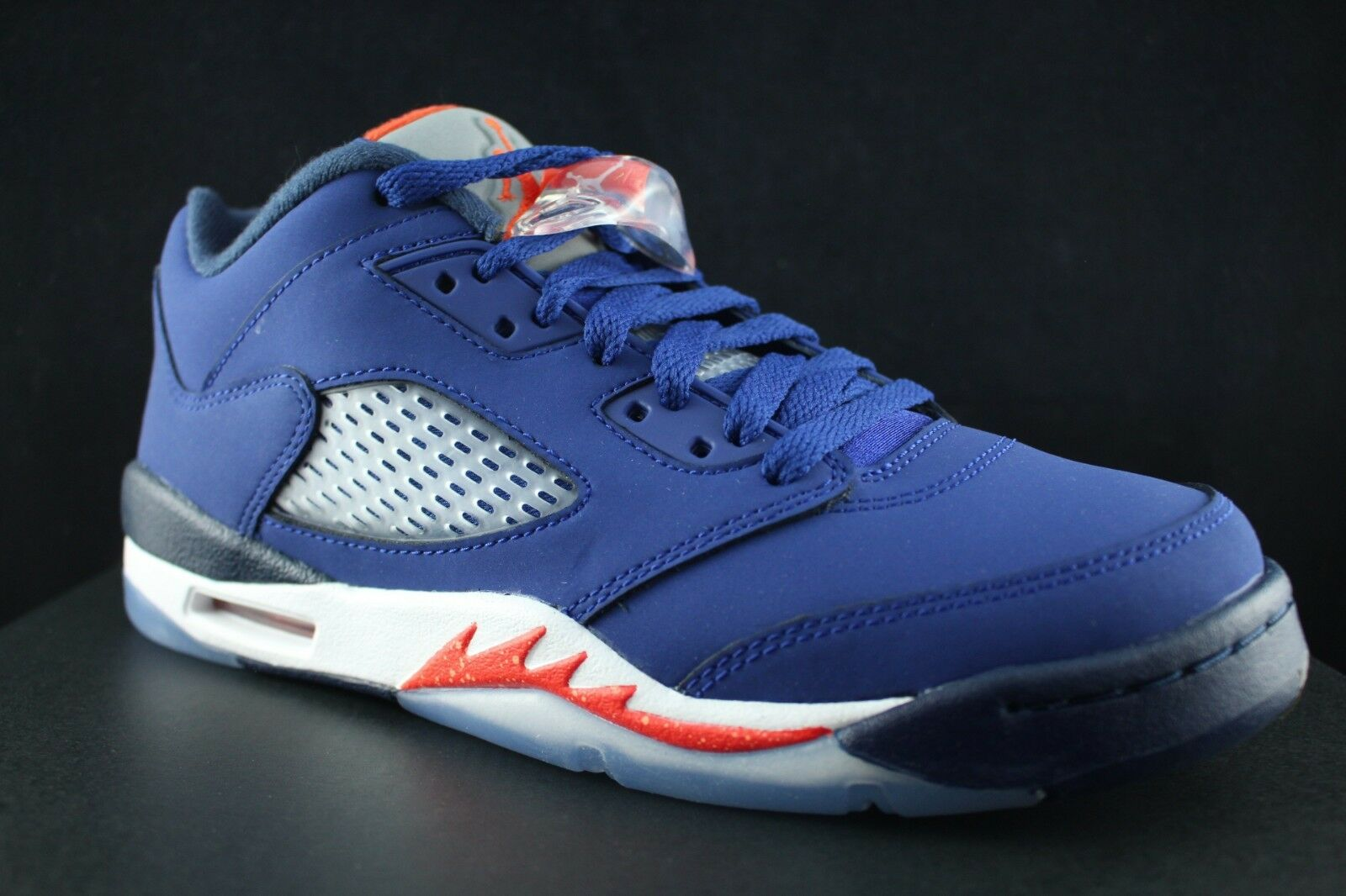 NIKE AIR JORDAN 5 RETRO LOW GS V DEEP ROYAL NAVY Bleu ORANGE NAVY ROYAL 314338 417 SZ 6 Y 261aa0
