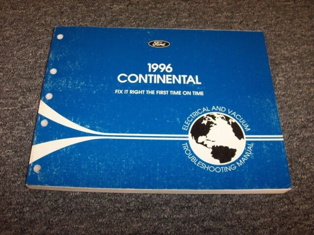 1996 Lincoln Continental Sedan Electrical Wiring  U0026 Vacuum